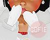❀ kids white mittens