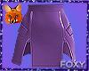 Sexy Purple Zip Skirt