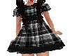 Flat Black Plaid Dress