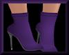High Heel Booties Purple