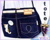 ! Vici-Denim Tote Blue