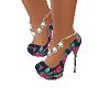 zapato flores