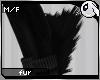~Dc) Black Kitty Leg Fur