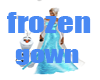 frozen ice blue gown