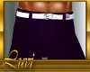 LUVI POLO PANTS PURPLE