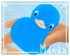 .M.  Blue Sparkle Duck