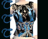 TTT Black n Blue Net Top