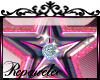 *R* Pink Star Sticker
