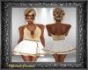 Gold & Wht Sparkle Dress