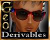 Geo Blues Sunglasses M
