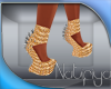 ~Tif~Gold Spike Shoes