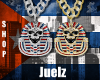 2 Skull Iced Chains