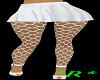 *R* White Skirt/Fishnets