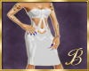 latex dress white