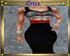 ~L~Stripe Dress Rd Belt