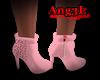 pink short booties