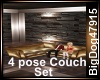 [BD] 4 Pose Couch Set