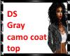 DS Gray Camo coat top