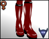 PVC boots red (f)