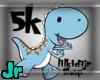 5k support dino sticker