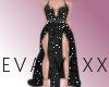 $Black Cowl Dress