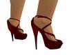 Wine Virgo Spike Heels