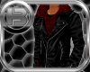 !B! Leather W/ Red Hoody