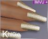 K gold nails +