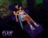 Purple Velvet Lounger