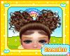 KID POM POM BROWN HAIR