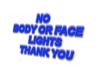 Neon No body light sign