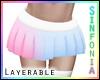 Layer. Pink Blue Skirt