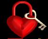 Red heart & Key