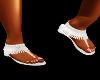 $A$(sil) fringie sandal
