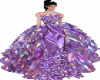 GALAXY FEATHERS GOWN