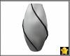 C2u Silver Black Vase