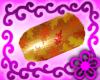 Golden Leaf Nails