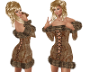 TF* Fur & Corset dress