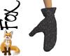 Fox~ Black Mittens