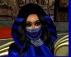 FW BLUE GILT FACE VEIL
