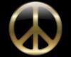 Golden Peace Lapel Pin M