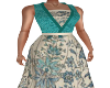 Lily Teal Gown