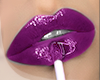 .GLOSSY. purple lips