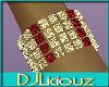 DJL-Bracelet GoldRuby L