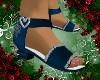 Blue Xmas Sandals