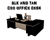 BLK &TAN OFFICE DESK