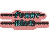 Bikini  furry blue