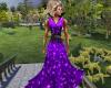 Purple glitter dress