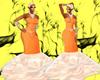 peach dress xxl