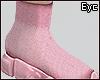 E.Pink Runner Socks